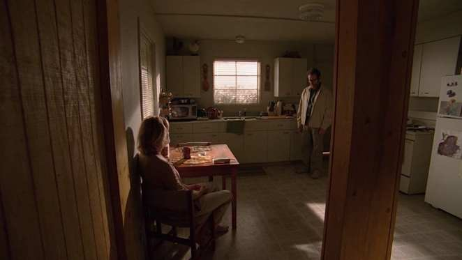 "Walter White visits Skyler White one last time in the Breaking Bad series finale ""Felina"""