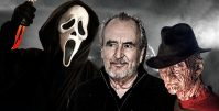 ghostface, wes craven and freddy krueger