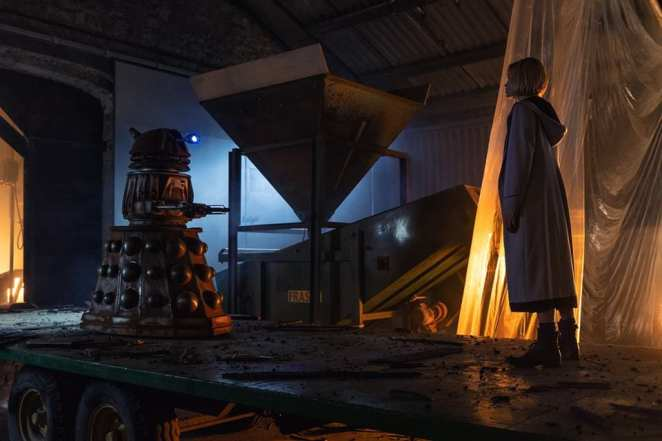 "The Doctor confronts a Dalek in Doctor Who's ""Resolution"""