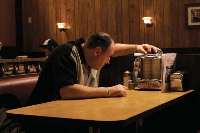 Tony Soprano (James Gandolfini) dials up some Journey in the finale of HBO