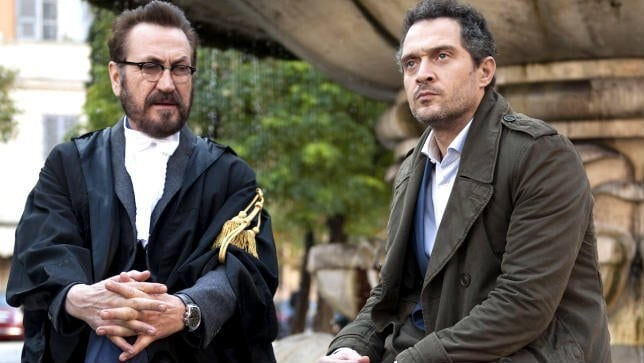 Claudio Santamaria and Marco Giallini in Netflix's Forgive Us Our Debts