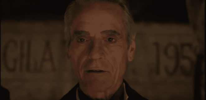 In HBO's Watchmen, Veidt (Jeremy Irons) is ready to watch the world crumble...again?