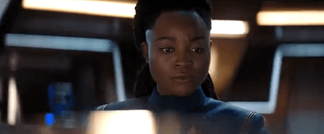 Lt. Joann Owosekun on the bridge in Star Trek Discovery