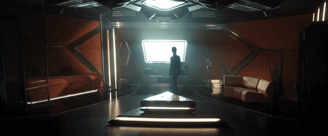Michael Burnham explores Spock's quarters on the Enterprise in Star Trek Discovery