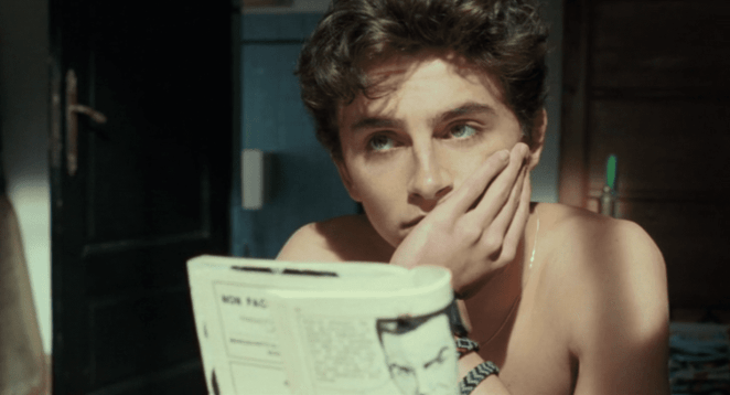 Timothee Chalamet from Call Me by Your Name