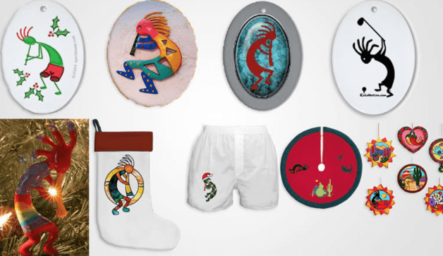 depictions of the kokopelli on souvenirs