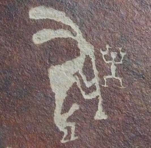 ancient Kokopelli cave painting