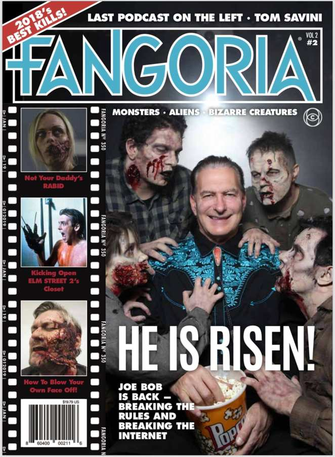 Joe Bob Briggs on the cover of Fangoria