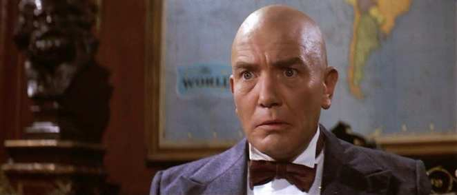 Albert Finney as Daddy Warbucks in the musical, Annie