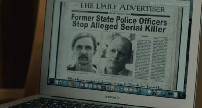 Rust & Marty in the newspapers, a great Easter Egg, True Detective S3