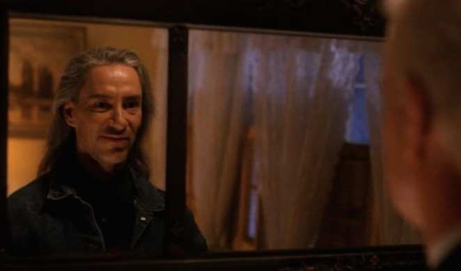 Leland Palmer looks in the mirror and sees BOB looking back in Twin Peaks