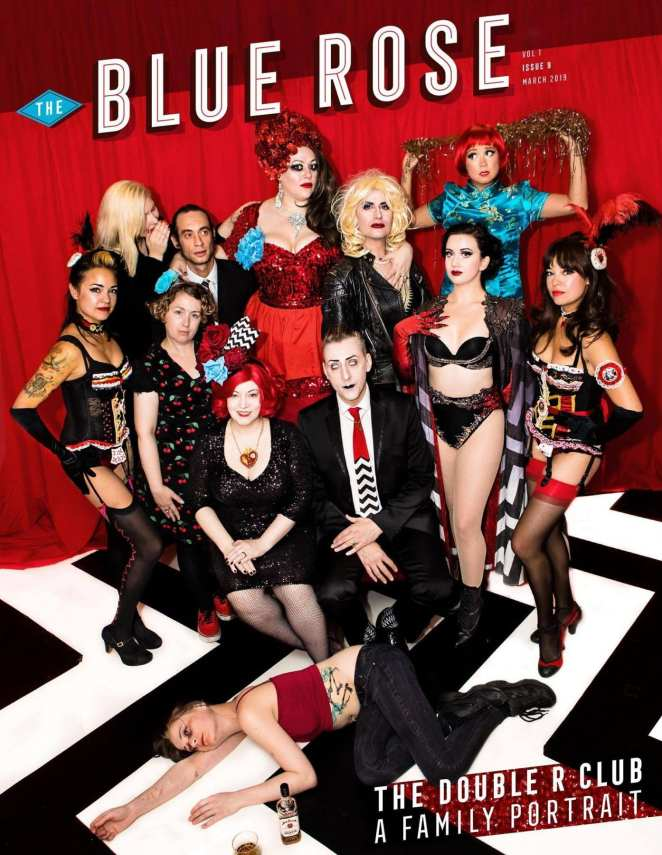 The cover of Issue 9 of the Blue Rose Magazine featuring the Double R Club