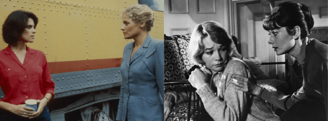 Screenshots from iconic lesbian films Desert Hearts and The Children