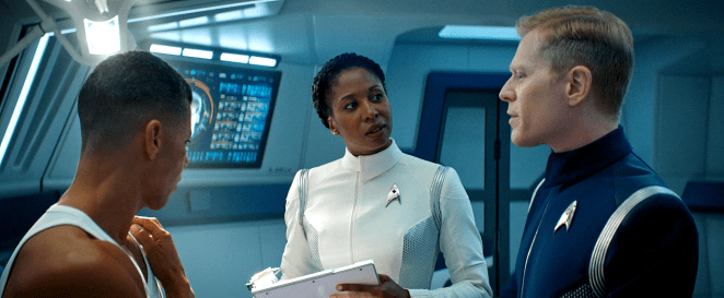 Culber, Pollard and Stamets in Sick Bay