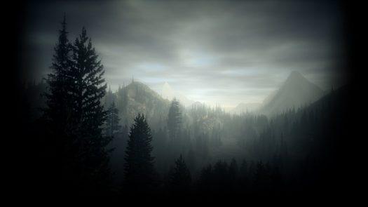 bright falls mountains