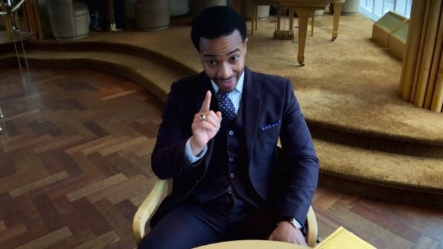 Ray Burke (Andre Holland) insists on making a point in Netflix