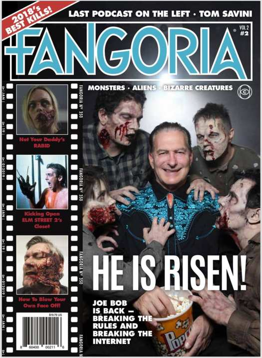 Joe Bob Briggs on the cover of Fangoria's second issue of their new series