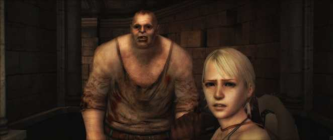 A screenshot from the Capcom game Haunting Ground