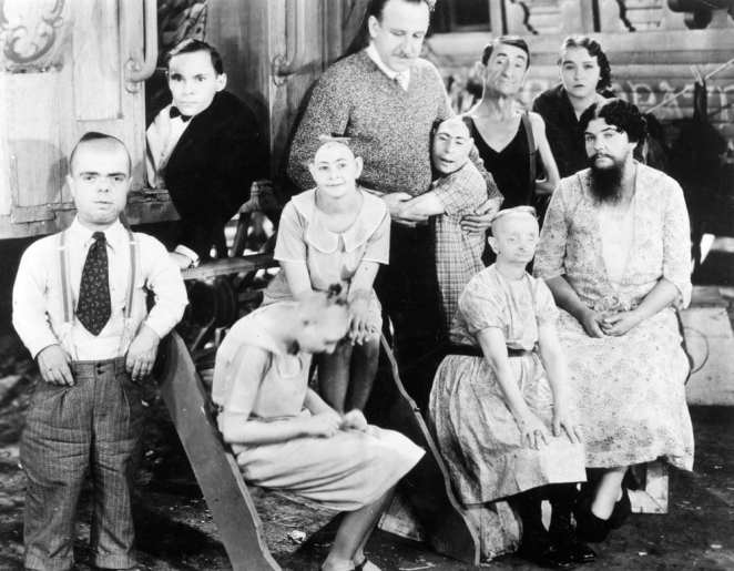 Several members of the freakshow gathered