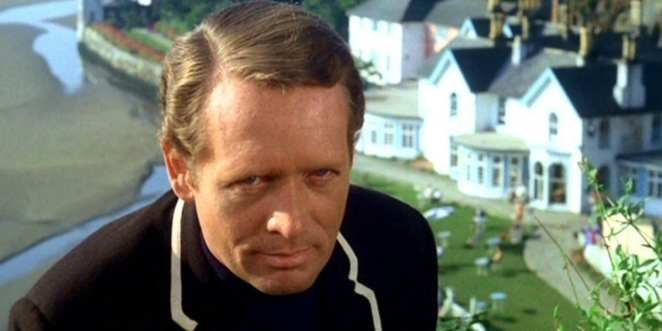 Patrick McGoohan plays Number Six in The Prisoner, which is often filmed on location in Portmeirion, Whales.