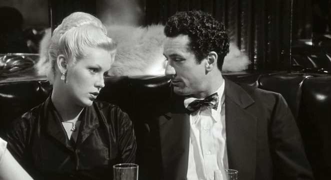 Robert De Niro and Cathy Moriarty enjoy a rare moment of civility in Raging Bull