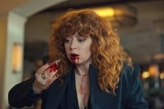 Nadia finding glass in an unlikely place in Russian Doll.