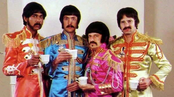 "The Rutles were ingesting a lot of tea during the making of ""Sgt. Rutter's Only Darts Club Band"""