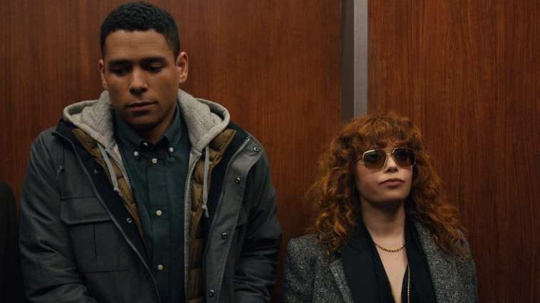 Alan and Nadia when they first meet in Netflix's Russian Doll.