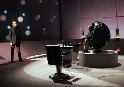 Number Two's chamber in The Prisoner is where many a heated discussion happen.