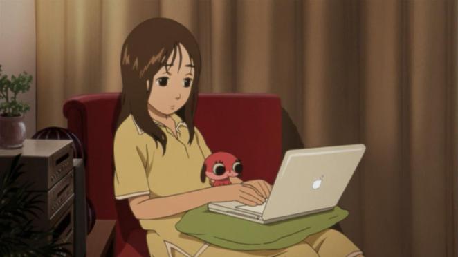 Loner Tsukiko and her beloved creation Maromi
