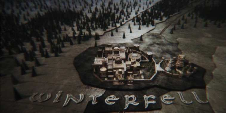 Winterfell in the opening credits to HBO's Game of Thrones