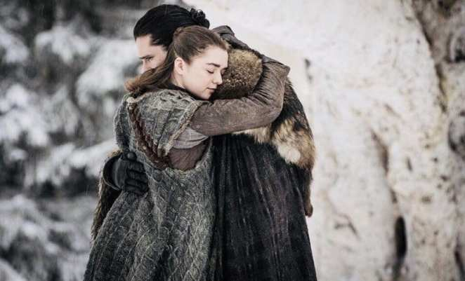 Arya and Jon Snow reunited in Season 8