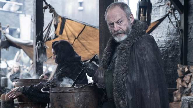 Davos serves soup but nobody takes his bread in the Game of Thrones episode A Knight of the Seven Kingdoms