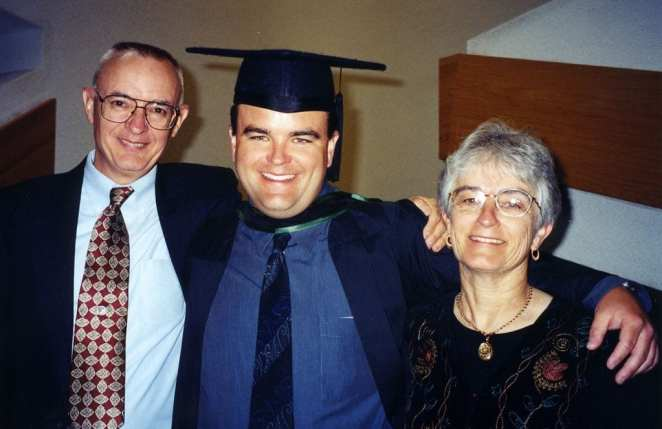 Andrew Bagby with his parents in an image from the documentary film Dear Zachary