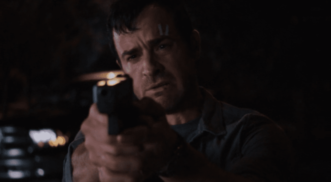 Kevin takes out his gun and starts firing on dogs in the final moments of the first episode of HBO