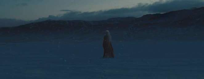 Melisandre gives herself to death after the battle for Winterfell is won in Game of Thrones The Long Night