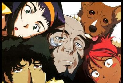The Cowboy Bebop Crew enjoys a selfie.