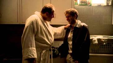 Tony Soprano and Christopher from HBO's The Sopranos