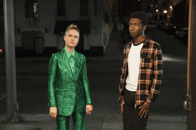 Brie Larson as Kit and Mamoudou Athie as Virgil in Larson's directorial debut Unicorn Store