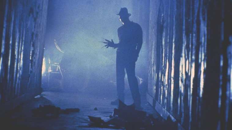 """Freddy Krueger (Robert Englung) in the iconic """"tina dream sequence"""" in A Nigtmare on Elm Street."""