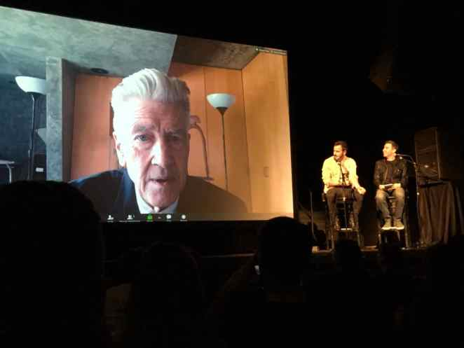David Lynch panel with Justin Theroux and Jonathan Cohen