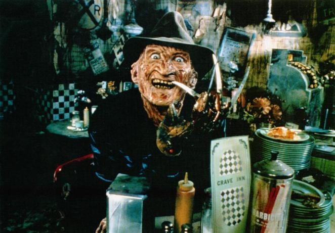 Freddy Krueger (Robert Englund) in the kitchen on Elm Street always cooking up something devious and fun for the kids.