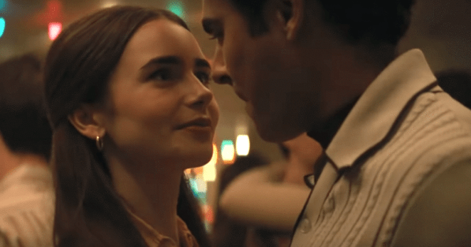Liz Kendall (Lily Collins) plays Ted Bundy