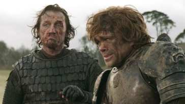 Bronn and Tyrion in Game of Thrones