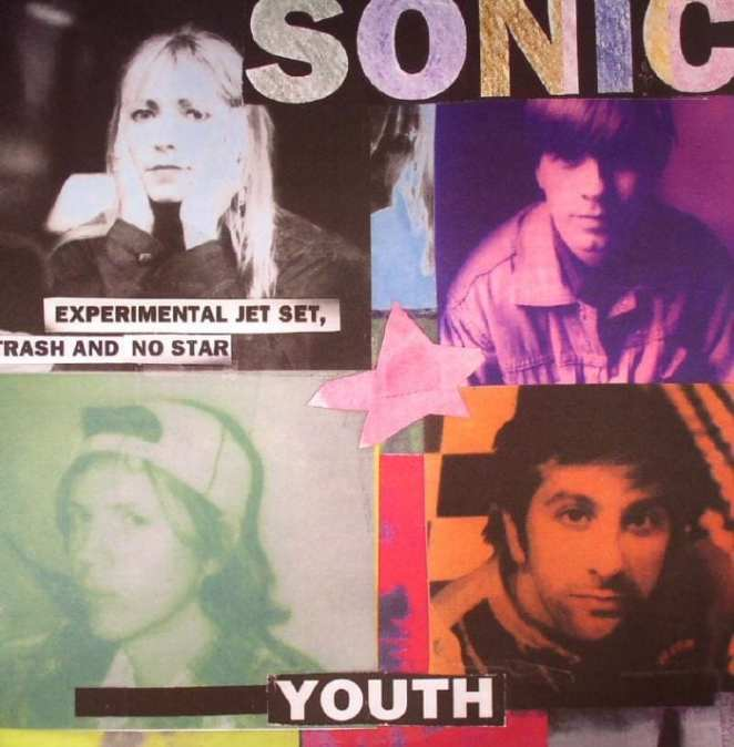 The album cover for Experimental Jet Set, Trash and No Star by Sonic Youth.