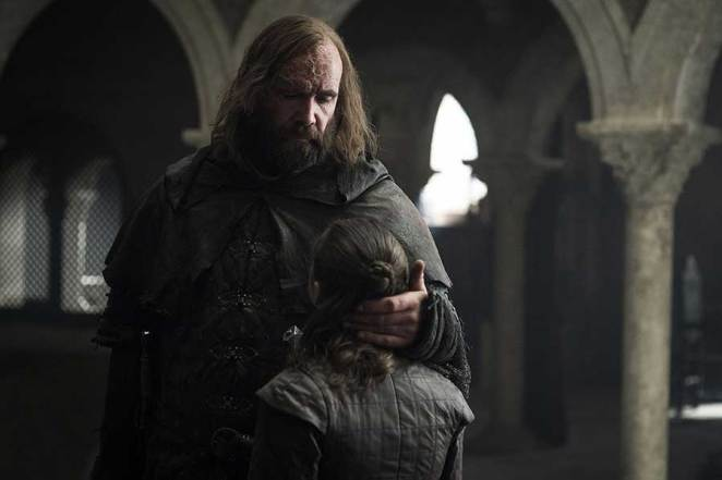 "The Hound and Arya say goodbye in Game of Thrones ""The Bells"""