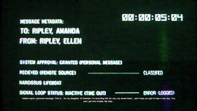 Alien Isolation message to Amanda