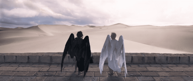 Good Omens in anchored by an unlikely friendship between demon and angel who have been friends since the beginning of time.