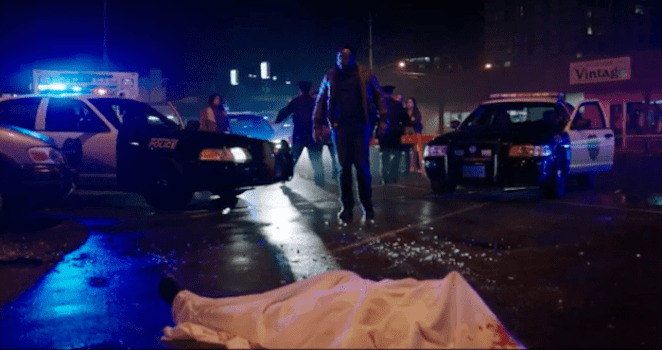 Detective Mike Norris (Brian Tyree-Henry) comes across Chucky's latest victim.