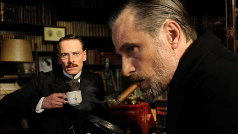 Viggo Mortensen and Michael Fassbender as Freud and Jung in David Cronenberg's A Dangerous Method